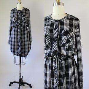 LUCKY BRAND Plaid Hi Low Dress S